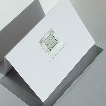 "Handmade Christmas Cards Pack ""Silver Mirror"""