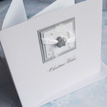 "Handmade Christmas Card ""Silver Night"""