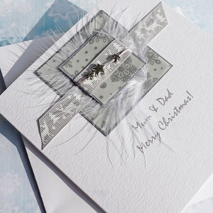 "Luxury Christmas Card ""Silver Reindeer"""