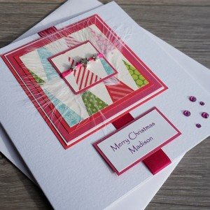"Luxury Christmas Card ""Pink Trim the Tree"""