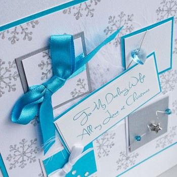 """Luxury Boxed Christmas Card """"Winter Sparkle"""""""