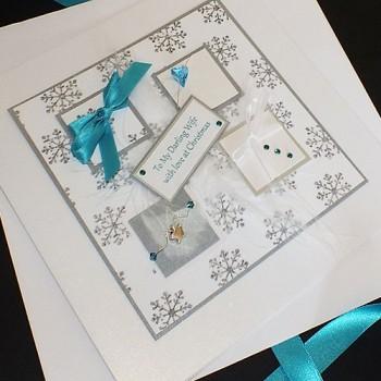 "Luxury Christmas Card ""Winter Sparkle"""