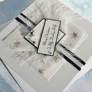 "Luxury Christmas Card ""Black & White"""