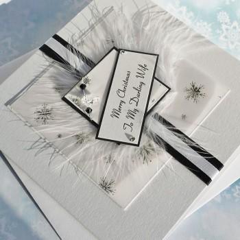 "Luxury Christmas Card ""Black & White"""