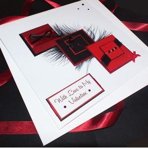 "Valentine's Day Card ""Heart Cascade"""