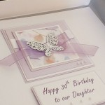 Lilac Butterflies Birthday Card - LARGE