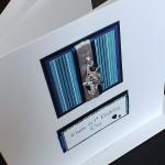 Blue Stripes Boxed Birthday Card