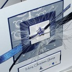 "Luxury Boxed Christmas Card ""Blue Murano Star"""